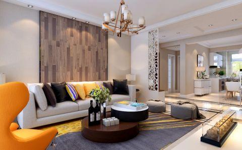 常青藤130平米简约风格三居室装修效果图