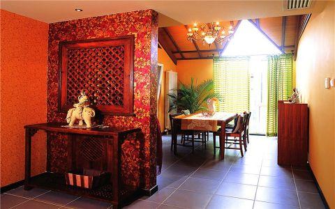 玄关隔断东南亚风格装饰图片