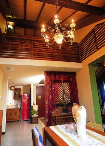 客厅吊顶东南亚风格装修设计图片