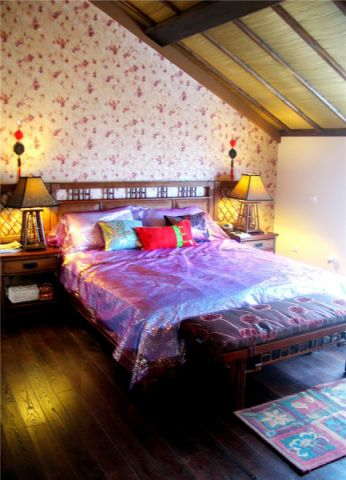 卧室细节东南亚风格效果图