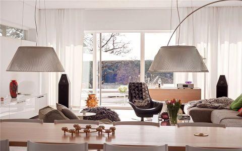客厅推拉门北欧风格装饰图片