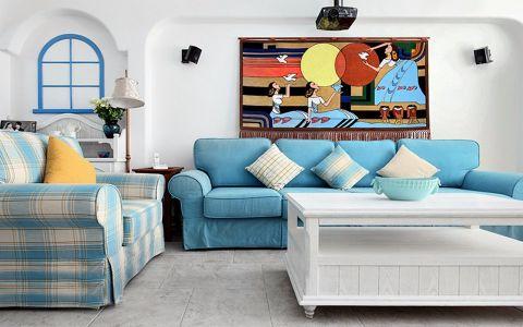地中海风格88平米两室两厅新房装修效果图
