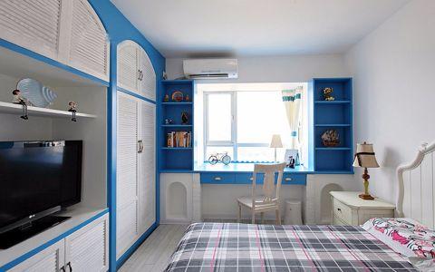 卧室床头柜地中海风格装潢设计图片