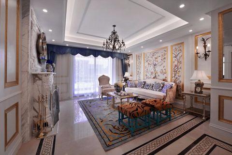 欧式风格122平米三室两厅室内装修效果图
