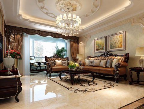 温泉新镇120平米欧式风格三室装修效果图