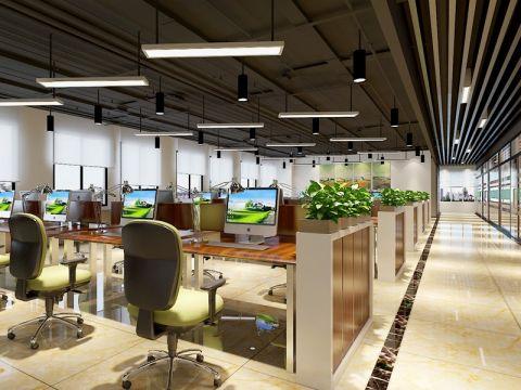 85万安徽四维环境工程办公室装修效果图
