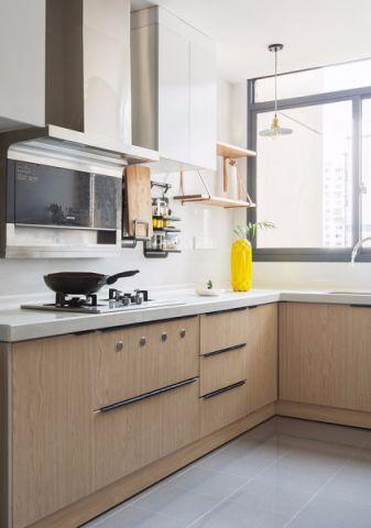 厨房地砖北欧风格装修图片