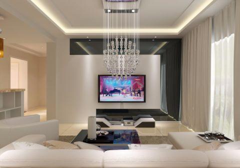 润昌小区115平方现代简约三室两厅装修效果图