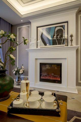 都市花园美式风格两居室两厅设计装修效果图