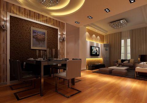 博威90平方现代简约两室两厅效果图