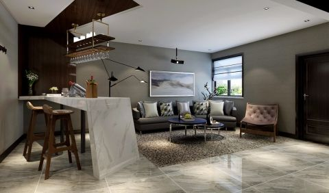 云水世纪明珠130平米三居室现代简风格设计案例