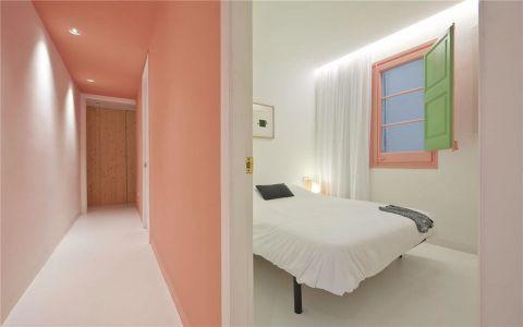 卧室隔断北欧风格装潢图片