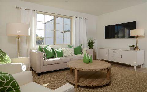 客厅窗台美式风格装潢效果图