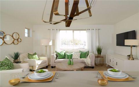 梧桐香郡140平美式风格三室一厅装修效果图