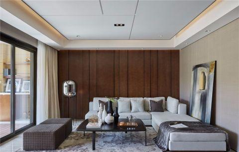 万达星城170平现代风格三房装修效果图