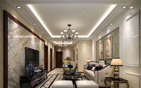 客厅吊顶新中式风格装修效果图