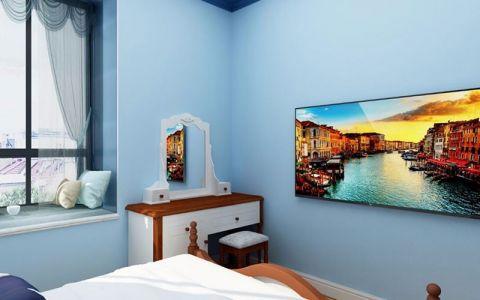 中国健康谷120平地中海风格三室两厅装修效果图