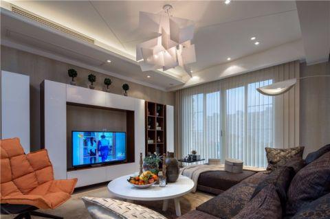汇合家园120平三房现代风格装修效果图