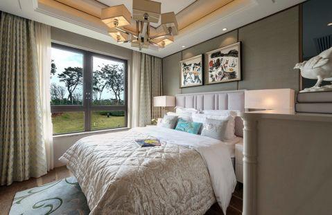 卧室吊顶新中式风格装修设计图片