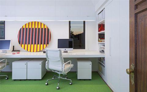书房书桌北欧风格装潢图片