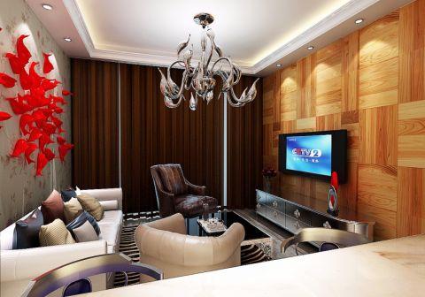 客厅背景墙现代中式风格装饰效果图
