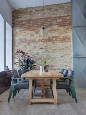 餐厅背景墙后现代风格装修设计图片