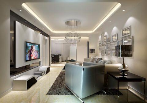 东方明珠125平方现代简约三室两厅装修效果图