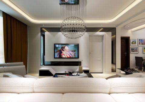 客厅细节现代简约风格装潢效果图