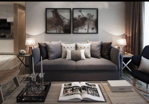 亲亲家园110平欧式风格二居室装修效果图