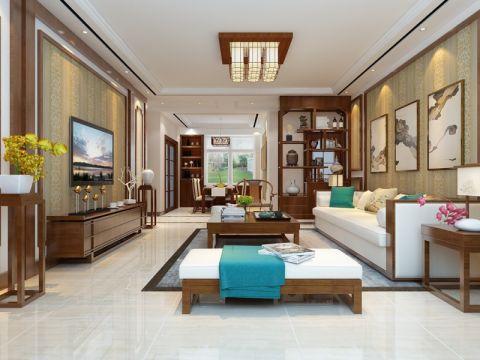 客厅细节新中式风格效果图