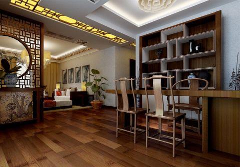 餐厅博古架新中式风格效果图