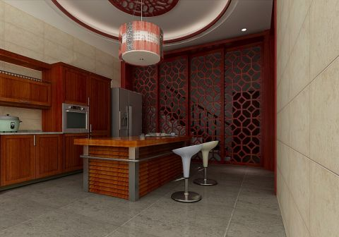 厨房吊顶中式风格效果图