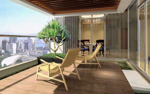 阳台推拉门现代简约风格装潢图片