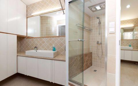 卫生间隔断简约风格装潢设计图片