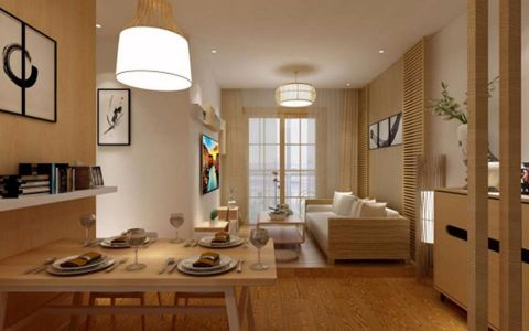 保利时代90平简约风格二居室装修效果图