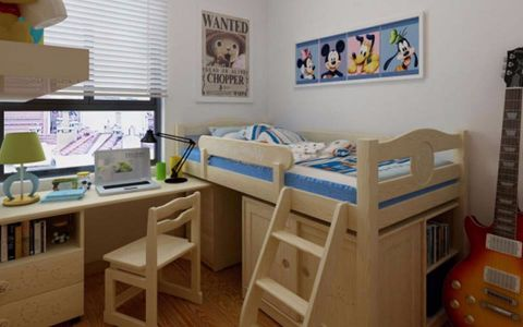 儿童房窗台简约风格装饰设计图片
