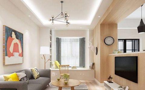 招商公园80平现代简约风两居室装修效果图