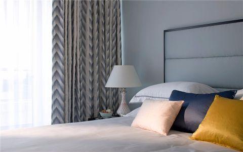 卧室飘窗美式风格装潢效果图
