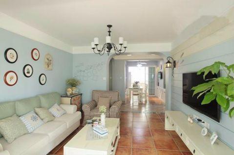 客厅走廊地中海风格装饰效果图