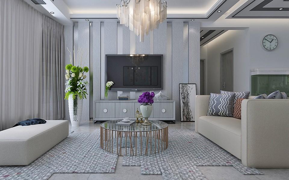 4室2卫2厅122平米现代简约风格
