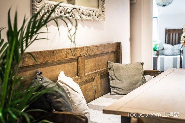 客厅米色细节混搭风格装潢图片
