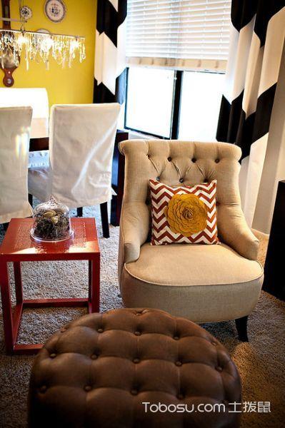 餐厅黄色细节混搭风格装饰设计图片