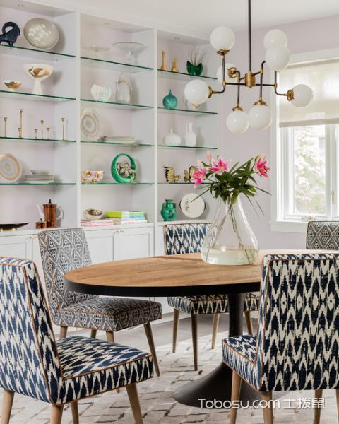 餐厅白色橱柜现代风格装潢效果图