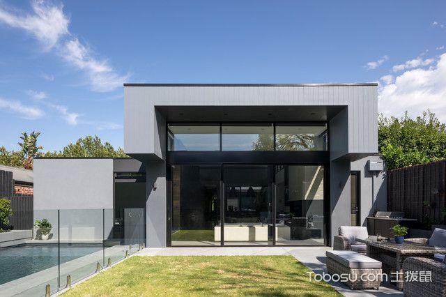 外景灰色外墙现代风格装饰效果图