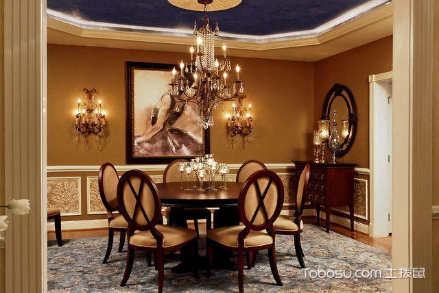 餐厅 吊顶_温馨舒适简欧风格餐厅装修效果图
