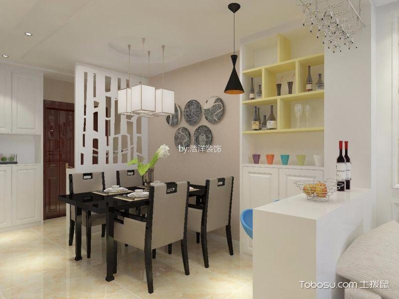 餐厅 博古架_西安伟业工馆100平简约风格二居室装修效果图