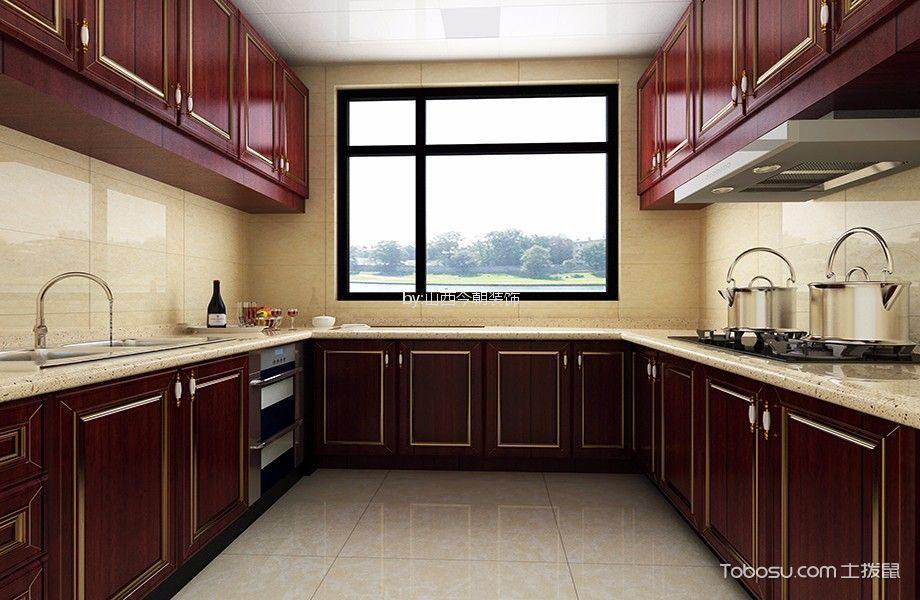 厨房 橱柜_富景家园150平米美式风格大户型装修效果图
