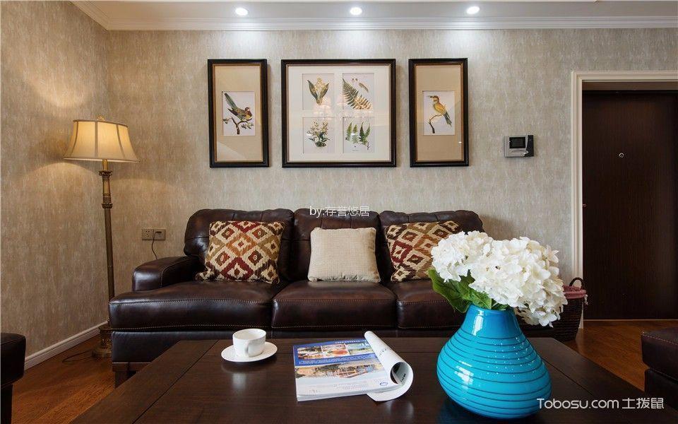 美式风格109平米三室两厅新房装修效果图