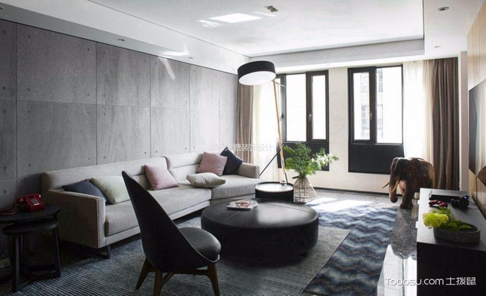 怡翠花园现代风格两室一厅装修效果图