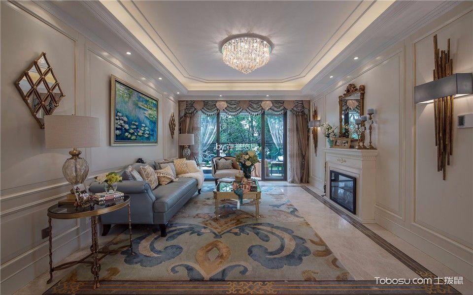 星河国际140平方美式风格三居室装修效果图